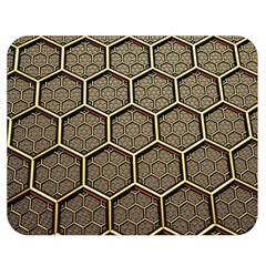 Texture Hexagon Pattern Double Sided Flano Blanket (medium)  by BangZart