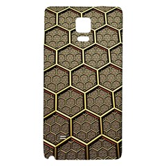 Texture Hexagon Pattern Galaxy Note 4 Back Case by BangZart