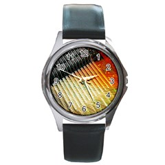 Technology Circuit Round Metal Watch