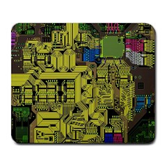 Technology Circuit Board Large Mousepads by BangZart