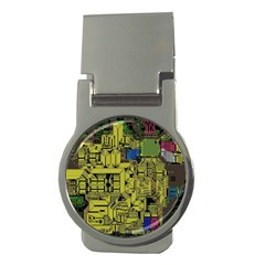 Technology Circuit Board Money Clips (round)  by BangZart