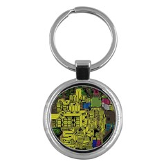 Technology Circuit Board Key Chains (round)  by BangZart