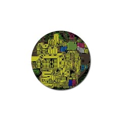 Technology Circuit Board Golf Ball Marker (4 Pack) by BangZart