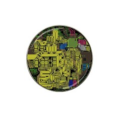 Technology Circuit Board Hat Clip Ball Marker (10 Pack) by BangZart
