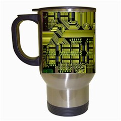 Technology Circuit Board Travel Mugs (white)