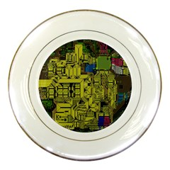 Technology Circuit Board Porcelain Plates by BangZart