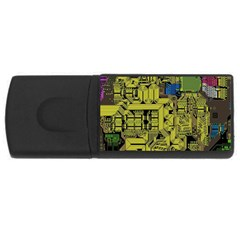 Technology Circuit Board Rectangular Usb Flash Drive by BangZart