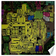 Technology Circuit Board Canvas 12  X 12   by BangZart