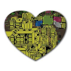 Technology Circuit Board Heart Mousepads by BangZart