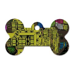 Technology Circuit Board Dog Tag Bone (one Side) by BangZart