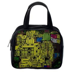 Technology Circuit Board Classic Handbags (one Side)