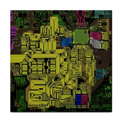 Technology Circuit Board Face Towel by BangZart