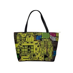 Technology Circuit Board Shoulder Handbags by BangZart