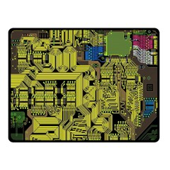 Technology Circuit Board Fleece Blanket (small) by BangZart
