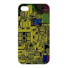 Technology Circuit Board Apple Iphone 4/4s Hardshell Case by BangZart