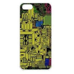 Technology Circuit Board Apple Iphone 5 Seamless Case (white)