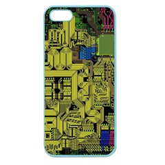 Technology Circuit Board Apple Seamless Iphone 5 Case (color) by BangZart