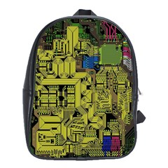 Technology Circuit Board School Bags (xl)  by BangZart