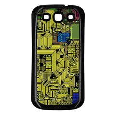 Technology Circuit Board Samsung Galaxy S3 Back Case (black) by BangZart