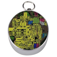 Technology Circuit Board Silver Compasses by BangZart