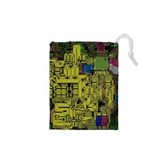 Technology Circuit Board Drawstring Pouches (xs)  by BangZart