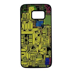 Technology Circuit Board Samsung Galaxy S7 Black Seamless Case