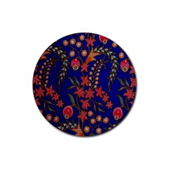 Texture Batik Fabric Rubber Round Coaster (4 Pack)