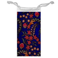 Texture Batik Fabric Jewelry Bag by BangZart