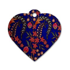 Texture Batik Fabric Dog Tag Heart (one Side)