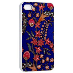 Texture Batik Fabric Apple Iphone 4/4s Seamless Case (white) by BangZart