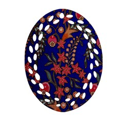 Texture Batik Fabric Oval Filigree Ornament (two Sides) by BangZart