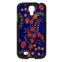 Texture Batik Fabric Samsung Galaxy S4 I9500/ I9505 Case (black)