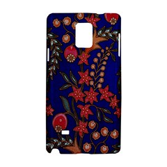 Texture Batik Fabric Samsung Galaxy Note 4 Hardshell Case by BangZart