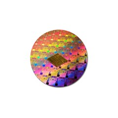 Technology Circuit Pentium Die Golf Ball Marker by BangZart