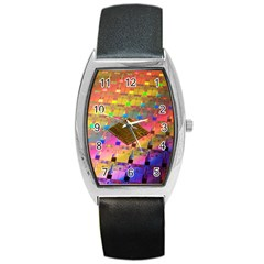 Technology Circuit Pentium Die Barrel Style Metal Watch by BangZart