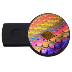 Technology Circuit Pentium Die Usb Flash Drive Round (4 Gb) by BangZart