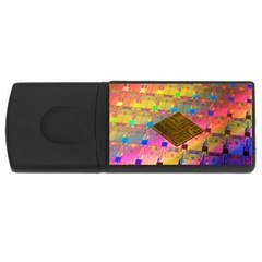 Technology Circuit Pentium Die Rectangular Usb Flash Drive by BangZart