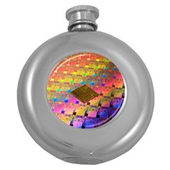 Technology Circuit Pentium Die Round Hip Flask (5 Oz) by BangZart