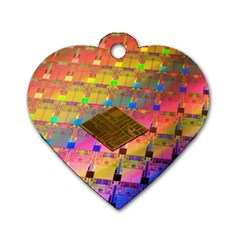 Technology Circuit Pentium Die Dog Tag Heart (two Sides) by BangZart