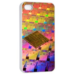 Technology Circuit Pentium Die Apple Iphone 4/4s Seamless Case (white) by BangZart