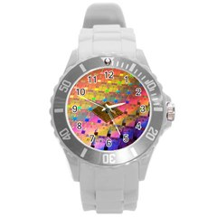 Technology Circuit Pentium Die Round Plastic Sport Watch (l) by BangZart