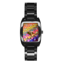 Technology Circuit Pentium Die Stainless Steel Barrel Watch by BangZart