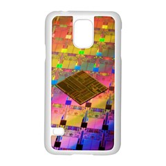 Technology Circuit Pentium Die Samsung Galaxy S5 Case (white) by BangZart