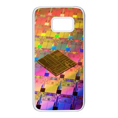 Technology Circuit Pentium Die Samsung Galaxy S7 White Seamless Case by BangZart