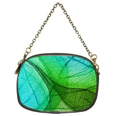 Sunlight Filtering Through Transparent Leaves Green Blue Chain Purses (two Sides)  by BangZart