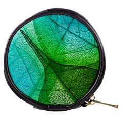 Sunlight Filtering Through Transparent Leaves Green Blue Mini Makeup Bags