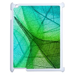 Sunlight Filtering Through Transparent Leaves Green Blue Apple Ipad 2 Case (white) by BangZart