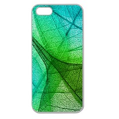 Sunlight Filtering Through Transparent Leaves Green Blue Apple Seamless Iphone 5 Case (clear) by BangZart