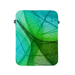 Sunlight Filtering Through Transparent Leaves Green Blue Apple Ipad 2/3/4 Protective Soft Cases by BangZart