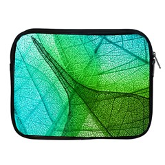 Sunlight Filtering Through Transparent Leaves Green Blue Apple Ipad 2/3/4 Zipper Cases by BangZart